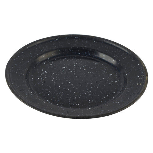 Black Enamel Speckled Plate
