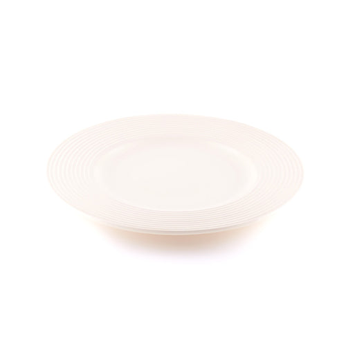 Beige Plate with Decorative Rim