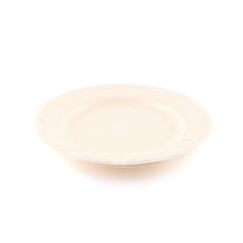 Beige Scalloped Plate