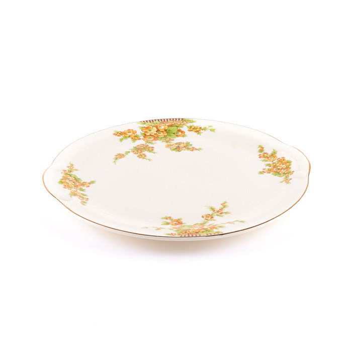 Beige Floral Plate