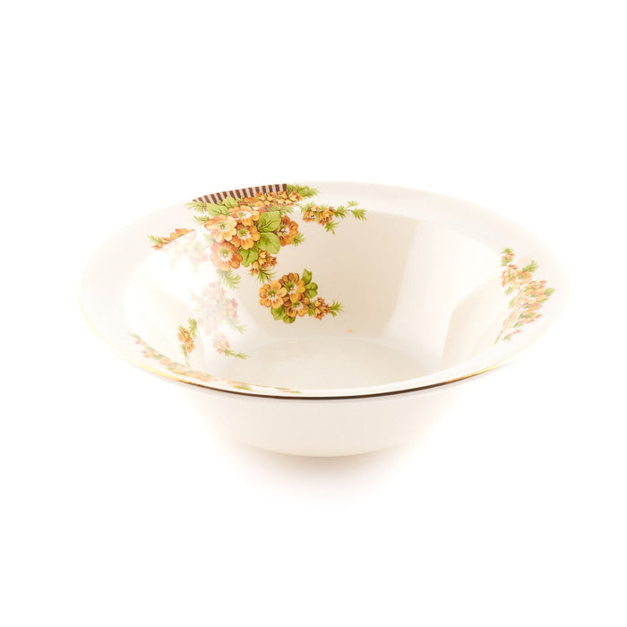 Beige Bowl with Floral Pattern