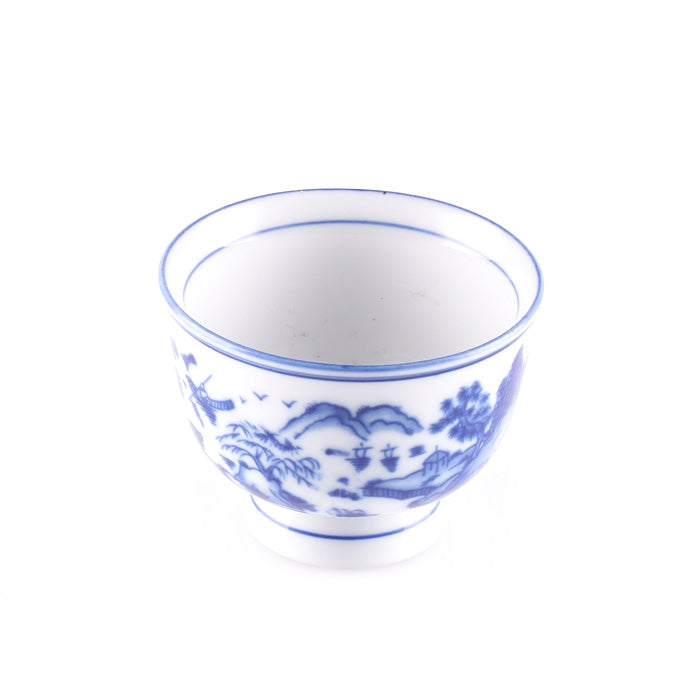 Blue and White Asian Design Bowl