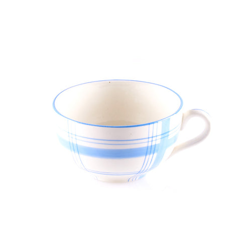 Blue and White Plaid Teacup
