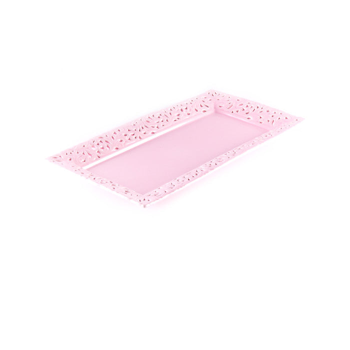 Pink Rectangular Serving Platter