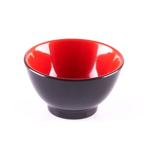 Black and Red Ingredient Bowl