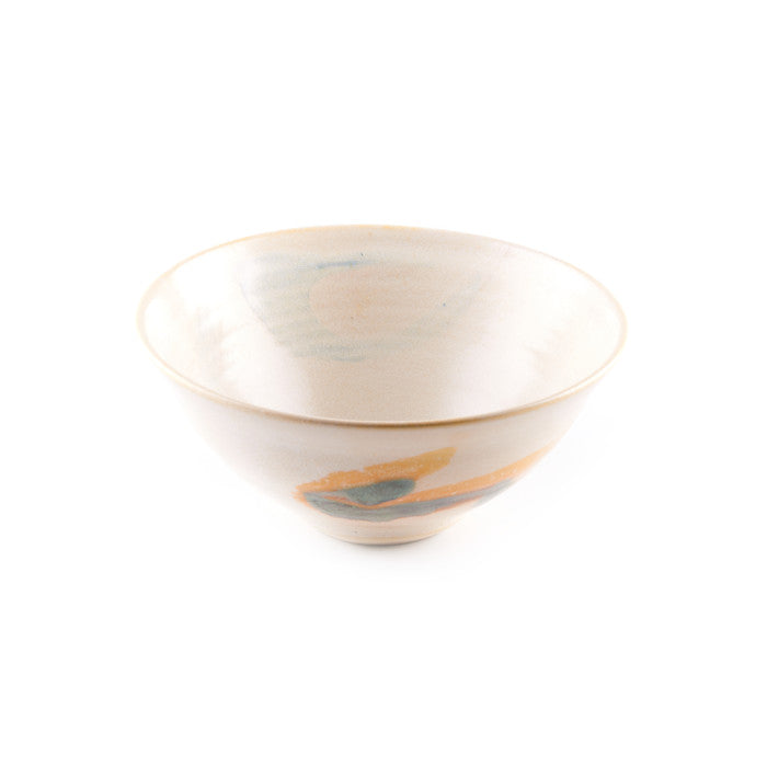 Beige Bowl with Asian Design