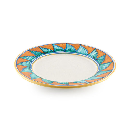 Beige Plate with Winged Rim Design