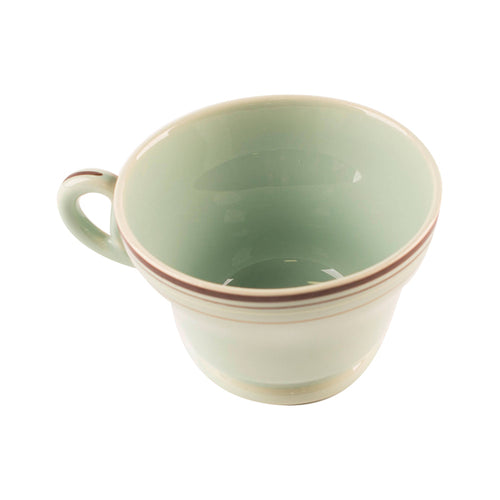 Blue Teacup with Brown Striped Rim