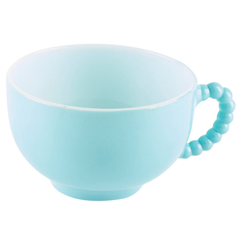 Blue Cup with Ribbed Handle