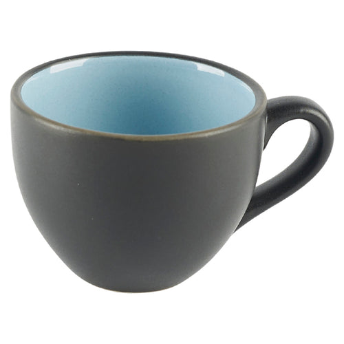 Black Cup with Blue Interior