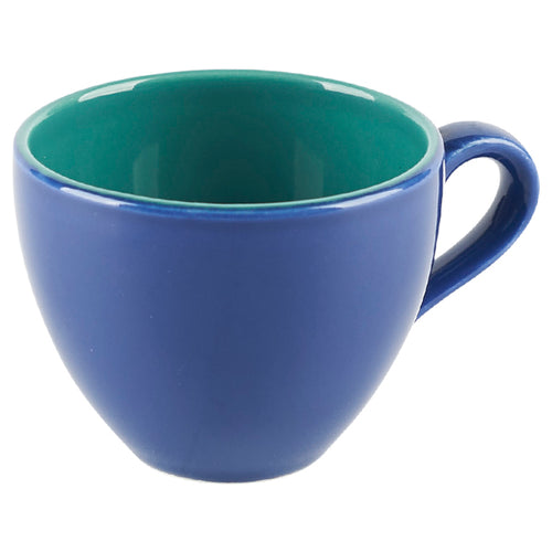 Blue Cup with Green Interior