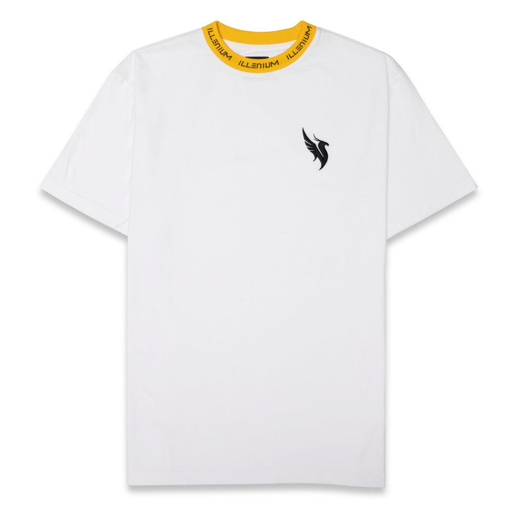Collar Tee / White & Yellow T-shirt Illenium