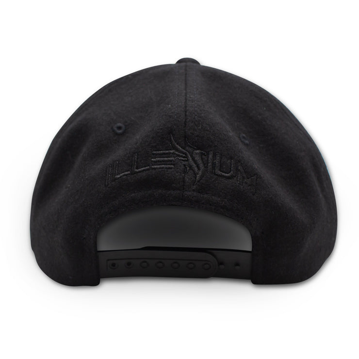 Phoenix Wool Snapback / Black on Black Snapback Hat Illenium