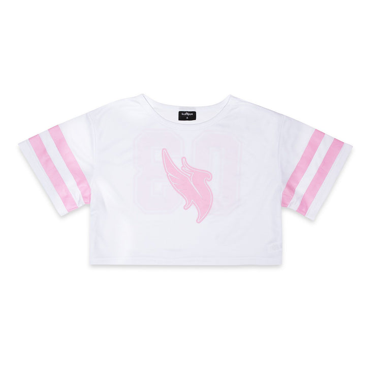 White/Pink Crop Top Crop Top Illenium