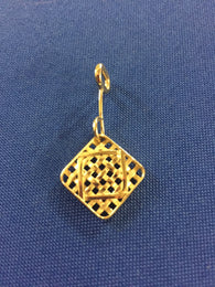Farm Life Collection: Small Tobacco Basket Pendant in 14K Gold