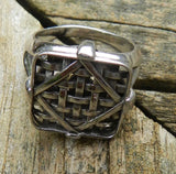 Farm Life Collection: Sterling Silver Ring Tobacco Basket