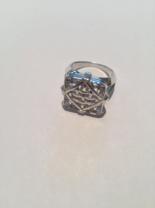 From Tobacco Road: Sterling Silver Ring Tobacco Basket