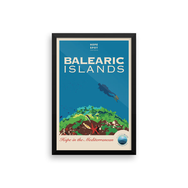 Balearic Islands Hope Spot Poster – Framed