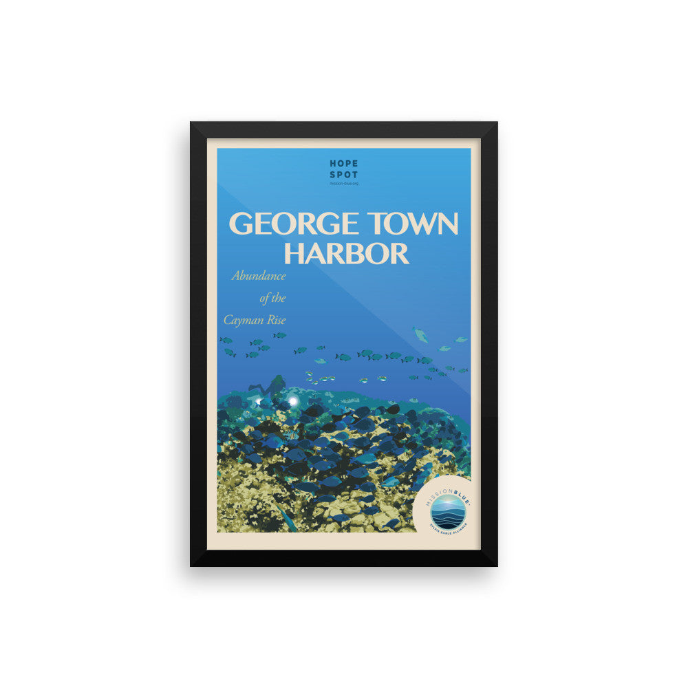 George Town Harbor Hope Spot Poster – Framed