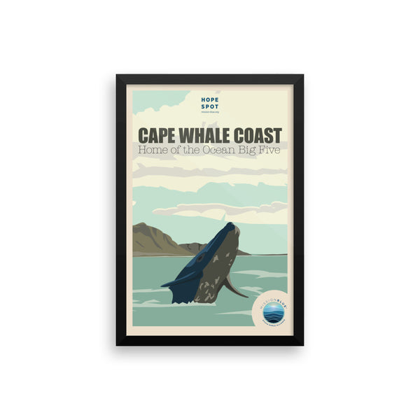 Cape Whale Coast Hope Spot Poster – Framed