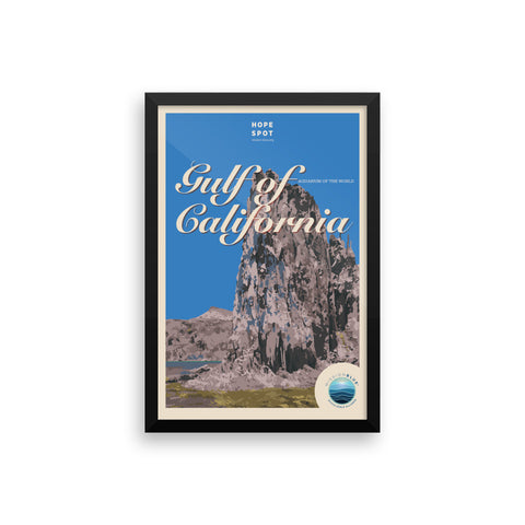 Gulf of California Hope Spot Poster – Framed