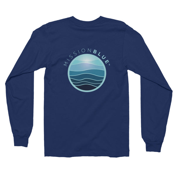 Long sleeve t-shirt (unisex) - No Blue, No Green