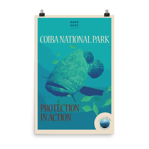 Eastern Pacific Seascape / Coiba Hope Spot Poster