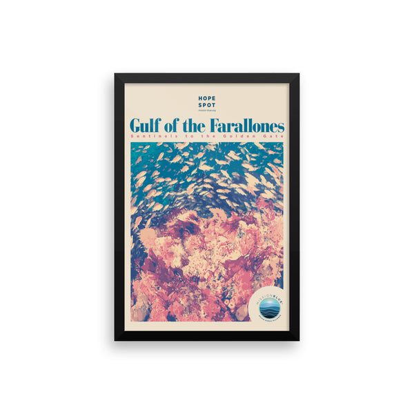 Gulf of the Farallones Hope Spot Poster – Framed