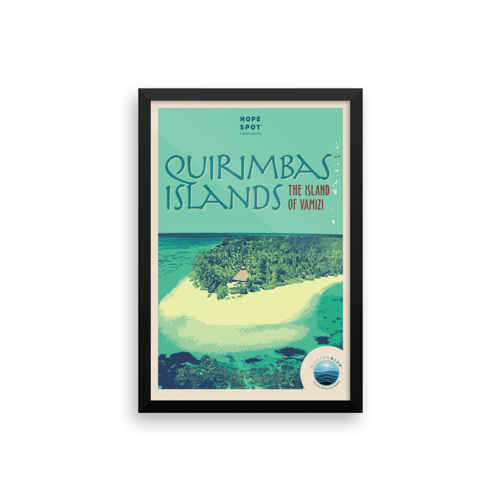 Quirimbas Islands Hope Spot Poster – Framed