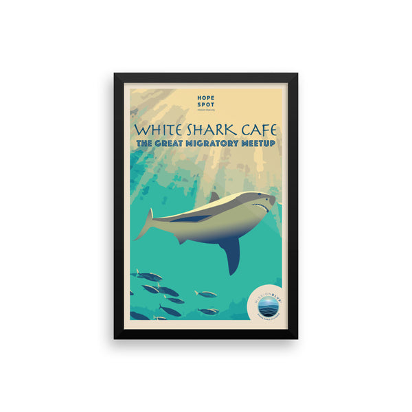 White Shark Café Hope Spot Poster – Framed