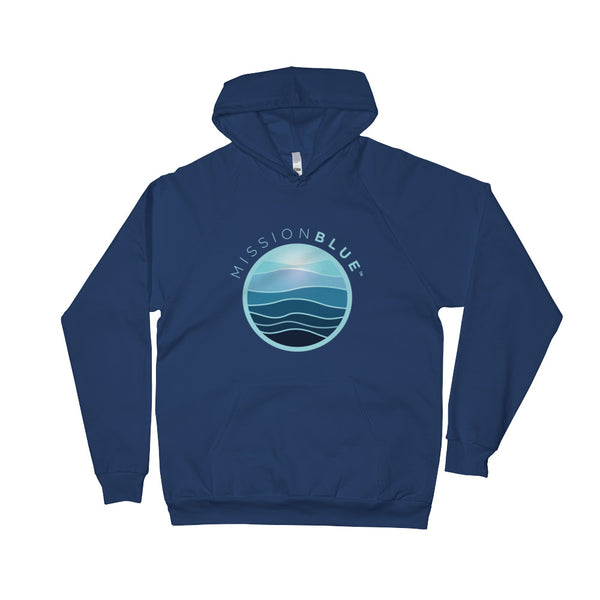 Unisex Fleece Hoodie - Mission Blue