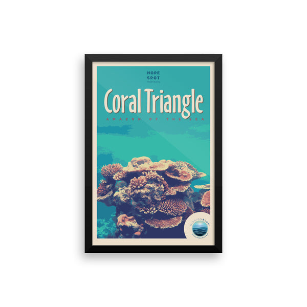 Coral Triangle Hope Spot Poster – Framed