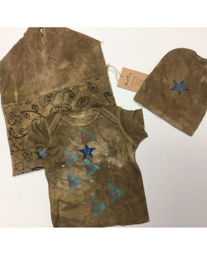 Steel Pony 6 month / Burnt Sand Baby T shirt set with purse