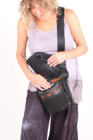 Steel Pony Black on Black Bison Bag