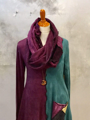 Steel Pony Boysenberry Infinity Sweater Scarf on the Rack