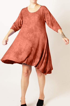 Steel Pony Dresses Large / Indian Red Tabitha Modal Dress on the Rack