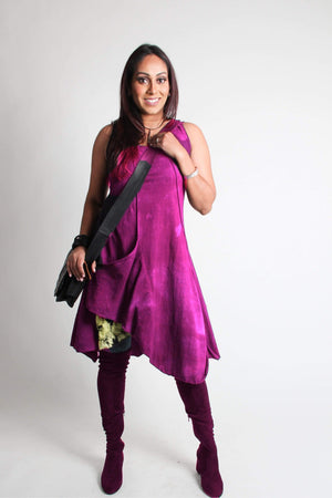 Steel Pony Dresses Small / Magenta Madelyn Cotton Tunic Dress on the Rack