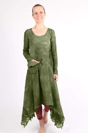Steel Pony Dresses Small / Winter Green Lilliana Cotton Knit Dress