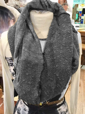 Steel Pony Grey Infinity Sweater Scarf on the Rack