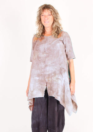 Steel Pony Large/XL / Lt Grey Cotton gauze Tunic on the Rack
