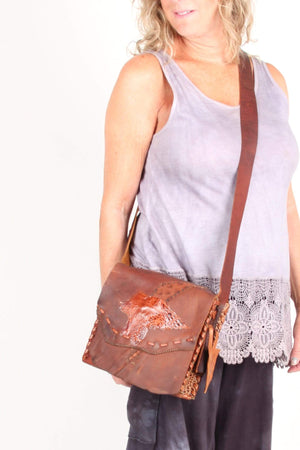 Steel Pony Oil Tan Flap Bag