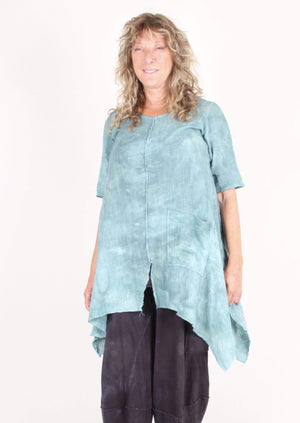 Steel Pony Small/Medium / Patina Cotton gauze Tunic on the Rack