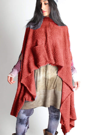 Steel Pony Sweater Fire Jo Sweater Poncho