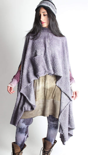 Steel Pony Sweater Grey Jo Sweater Poncho