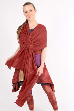 Steel Pony Sweater Indian Red Layla Wrap