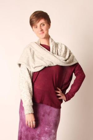 Steel Pony Sweater Opal Sleeve Sweater on the Rack