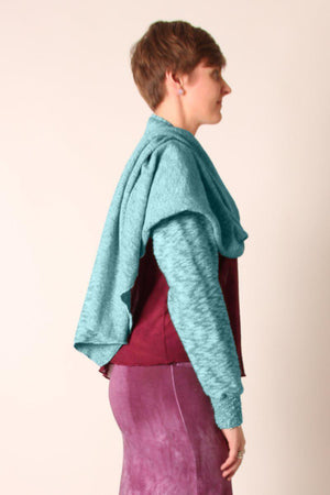 Steel Pony Sweater Size Free / Dp Teal Opal Sleeve Sweater on the Rack