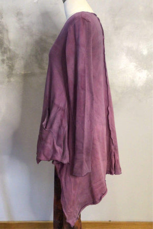 Steel Pony Sweater Small / Boysenberry Ginger Cotton Long Sleeve Sweater on the Rack