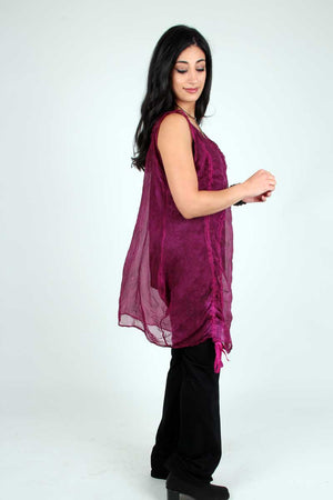 Steel Pony tunic Beba Silk Organza Tunic