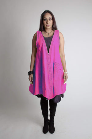 Steel Pony vest Magenta Maisie French Terry Vest